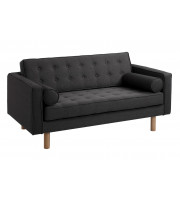 Sofa dwuosobowa Topic Wood Customform karbon
