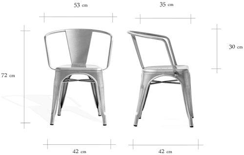 Wymiary krzesła Paris Arms CustomForm