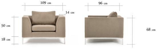 Wymiary fotela Ambient Wood CustomForm