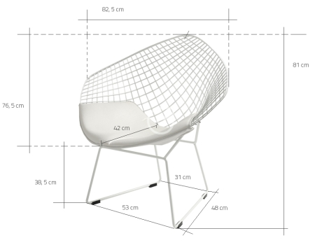 Wymiary krzesła Diament CustomForm