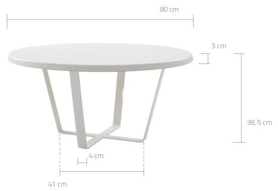 Wymiary stolika Maple