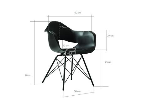 Wymiary krzesła Match Arms Black CustomForm