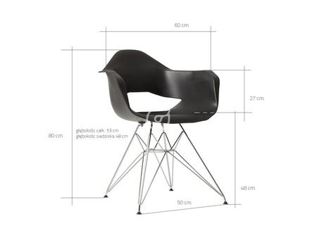 Wymiary krzesła Match Arms Metal CustomForm