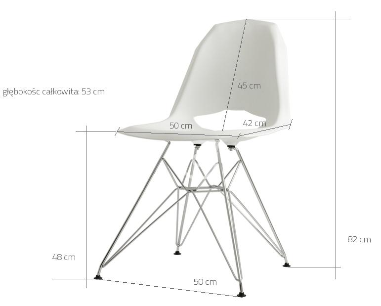 Wymiary krzesła Match Metal CustomForm