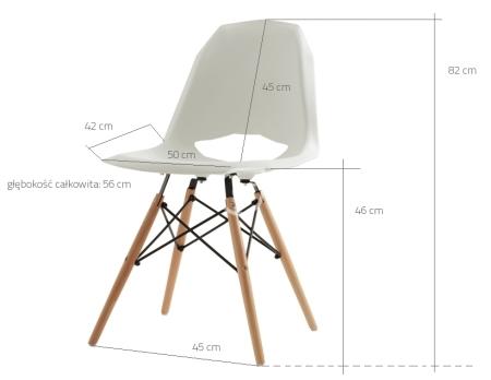 Wymiary krzesła Match Wood CustomForm