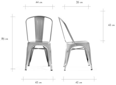 Wymiary krzesła Paris Customform