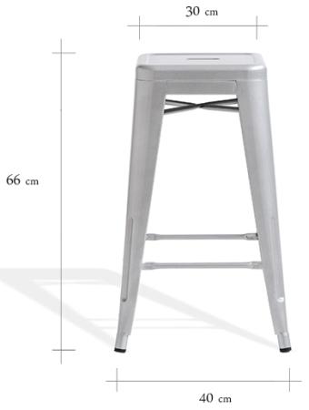 Wymiary stołka barowego Paris 66 Customform