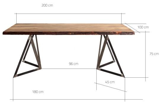Wymiary stołu Sherwood 200/100 cm CustomForm