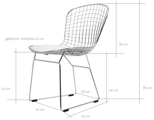Wymiary krzesła Wir CustomForm