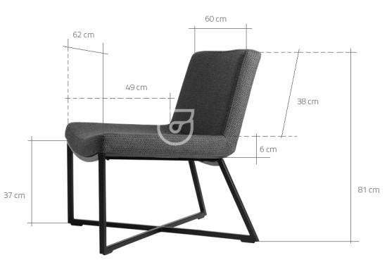 Wymiary fotela Zero CustomForm
