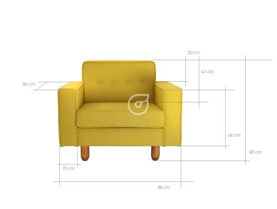 Wymiary fotela Zugo Customform