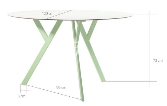 Wymiary stolika ZX