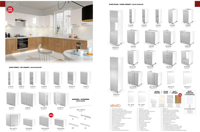 Meble kuchenne - szafki do kuchni z systemu Vento Halmar