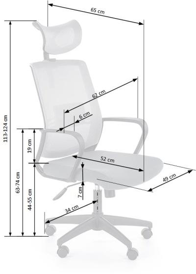 Fotel biurowy obrotowy Arsen Halmar