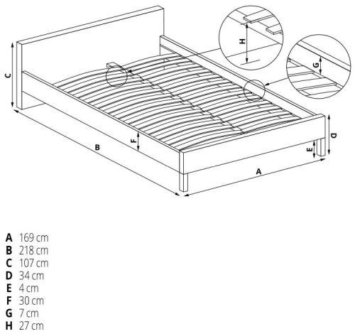 Łóżko Betina 160 Halmar