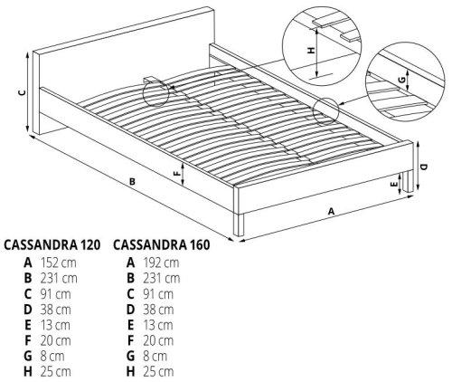 Łóżko Cassandra 120 Halmar