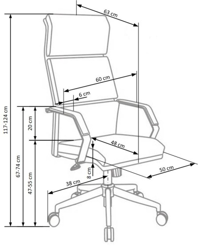 Fotel biurowy obrotowy Costa Halmar