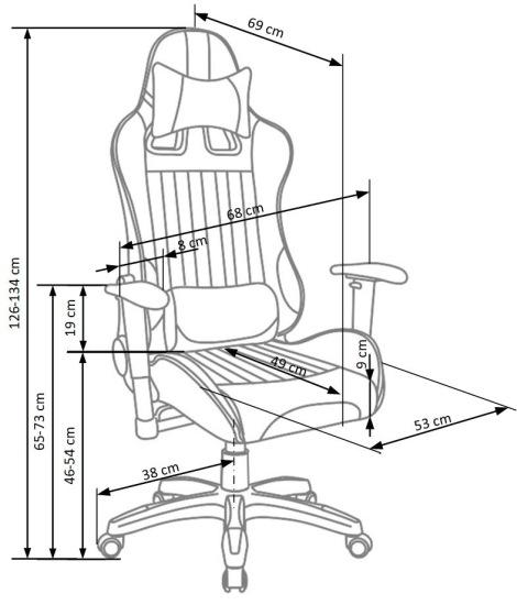 Fotel biurowy obrotowy Defender Halmar
