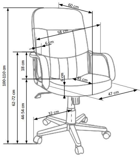 Fotel biurowy obrotowy Denzel Halmar