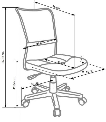 Fotel biurowy obrotowy Dingo Halmar