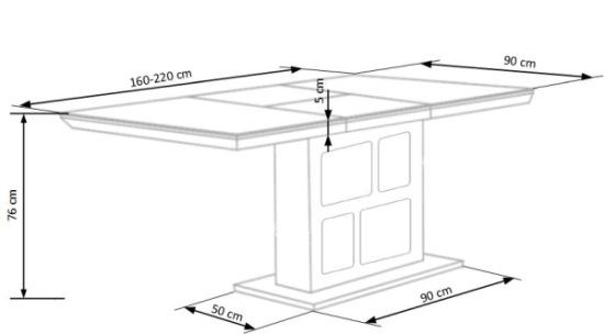Wymiary stołu Domus Halmar