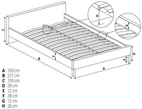 Łóżko Doris 160 Halmar