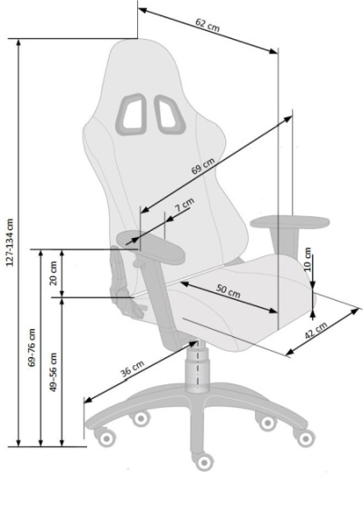 Fotel biurowy obrotowy Drake Halmar