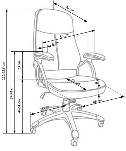 Fotel biurowy obrotowy Edison Halmar