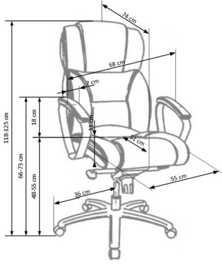 Fotel biurowy obrotowy Foster Halmar