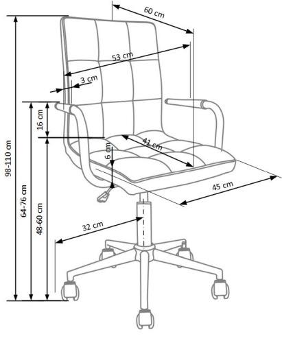 Fotel biurowy obrotowy Gonzo 2 Halmar