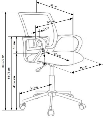 Fotel biurowy obrotowy Ibis Halmar