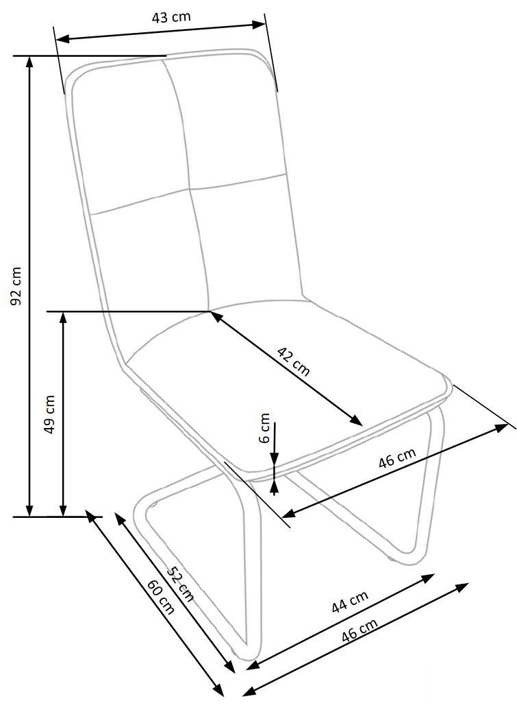 Wymiary krzesła K268