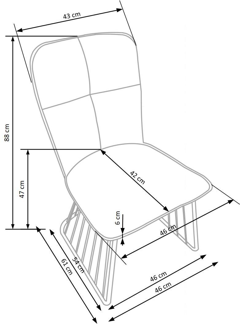 Wymiary krzesła K269 Halmar