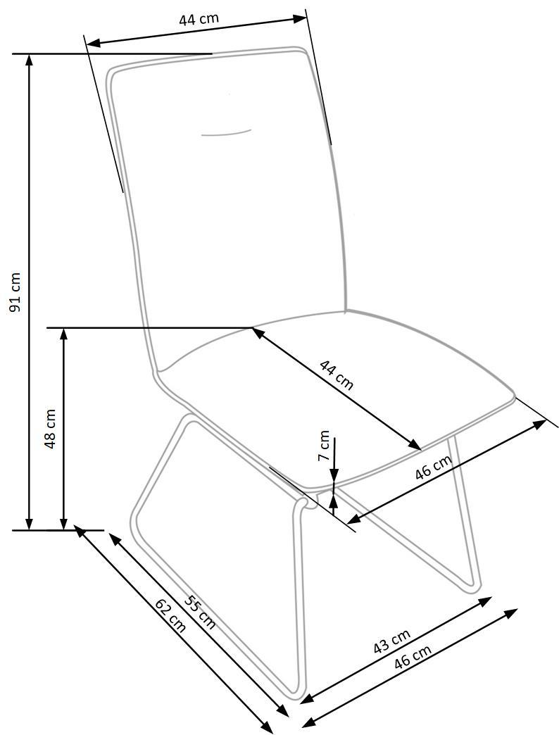 Wymiary krzesła K270