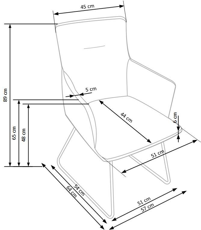 Wymiary krzesła K271