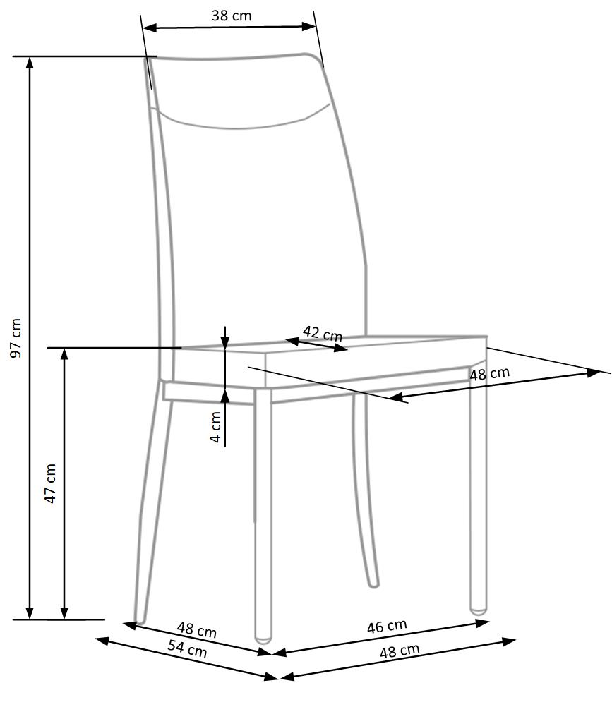 Wymiary krzesła K276