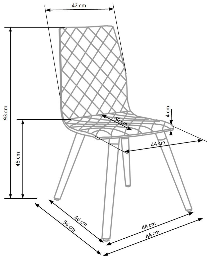 Wymiary krzesła K282