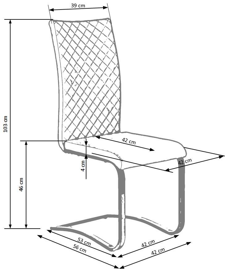 Wymiary krzesła K293