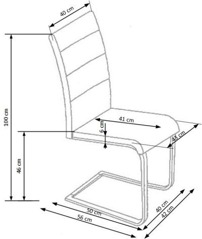 Wymiary krzesła K85 Halmar