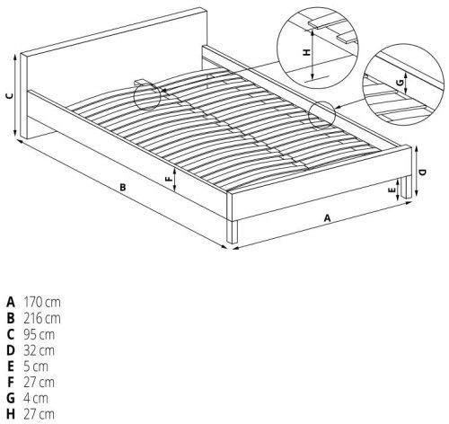 Łóżko Merida 160 Halmar