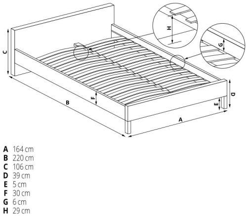 Łóżko Modena 2 160 Halmar