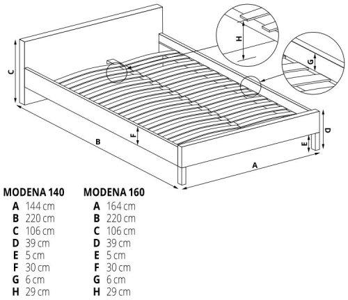 Łóżko Modena 160 Halmar