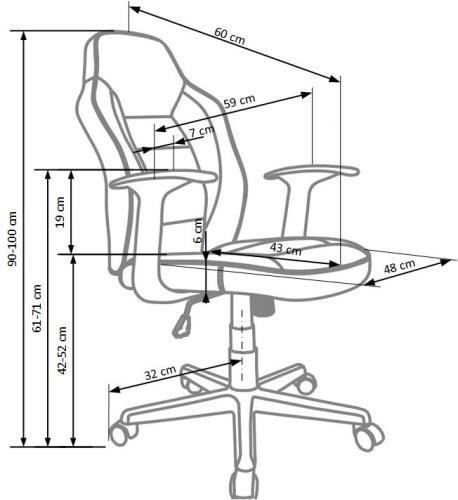 Fotel biurowy obrotowy Nemo Halmar