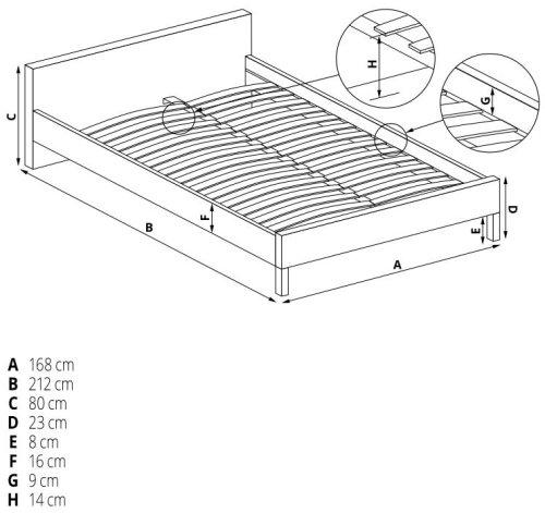 Łóżko Pago 160 Halmar