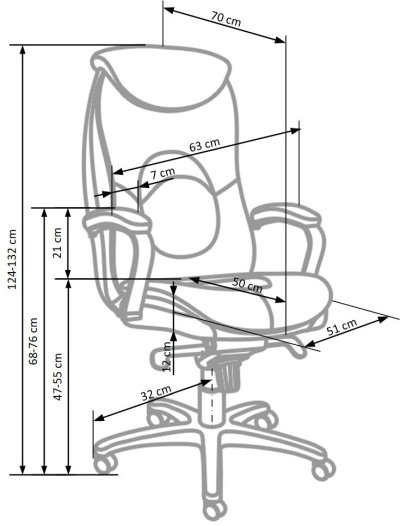 Fotel biurowy obrotowy gabinetowy Quad Halmar