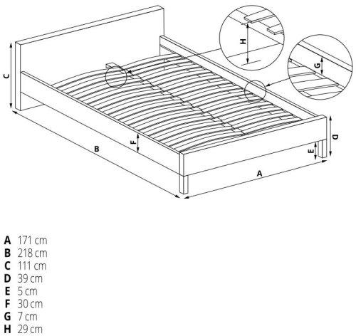 Łóżko Sabrina 160 Halmar
