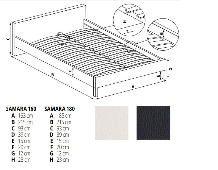 Łóżko Samara 160 Halmar