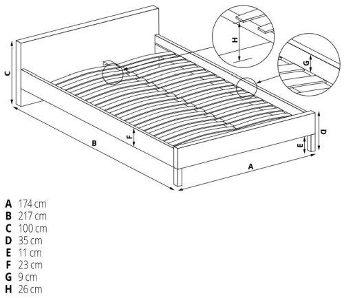 Łóżko Sandy 160 Halmar