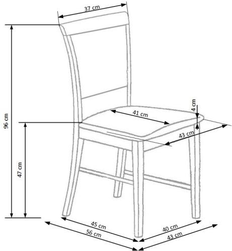 Krzesło drewniane Sylwek 1 Halmar