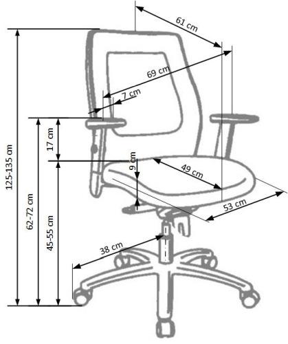 Fotel biurowy obrotowy Victor Halmar